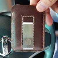 Vintage Genuine Leather Card Holder Wallet Purse For Men Women