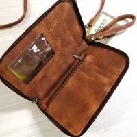 Brenice Women RFID Card Bag Solid Crossbody Bag Phone Bag Card Holder