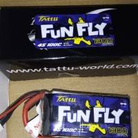 Tattu Funfly 1300mAh 14.8V 100C 4S1P Lipo Battery with XT60 Plug for RC Drone FPV Racing