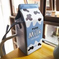 Women Fashion Cute Milk Box Crossbody Bag Casual Phone Bag