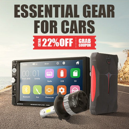 Essential Gear For Cars |  Extra 22% off coupon