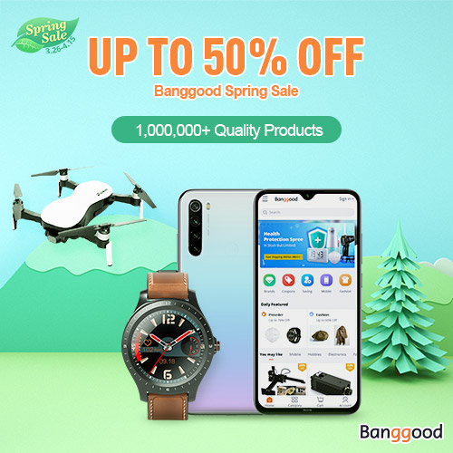 Banggood Spring Sale,Up to 50% OFF
