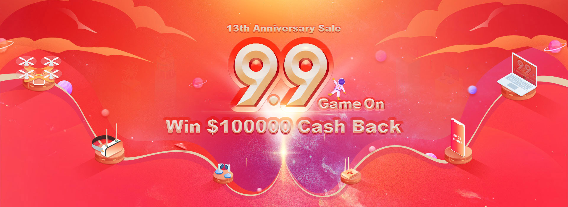 Banggood 13th Anniversary Sale -   Over $$100,000 Money Off