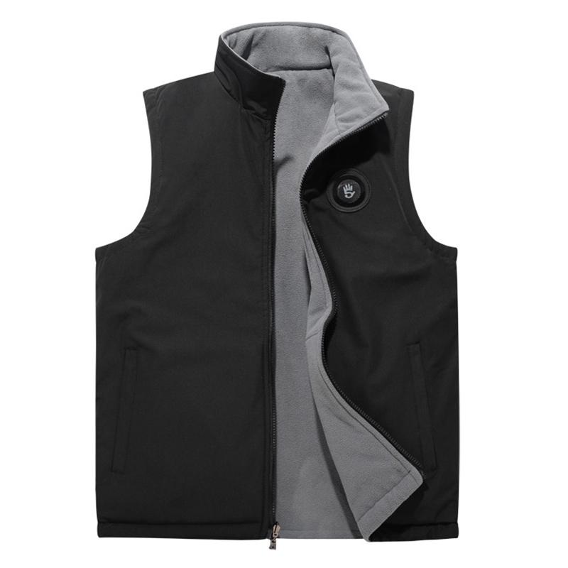 Double-sided Wearable Fleece Lined Casual Vest