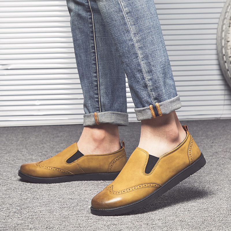 Men's Business Loafers Hand Stitching Shoes