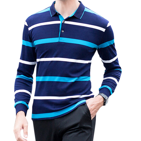 100% Cotton Knitted Comfy Breathable Golf Shirt