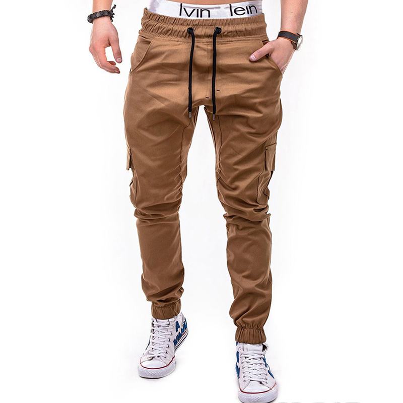Waist Drawstring Multi-pocket Cargo Pants