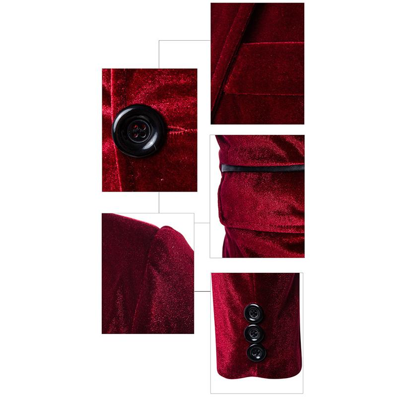 100% Cotton Corduroy Solid Color Long Sleeve Casual Blazers Business Suit