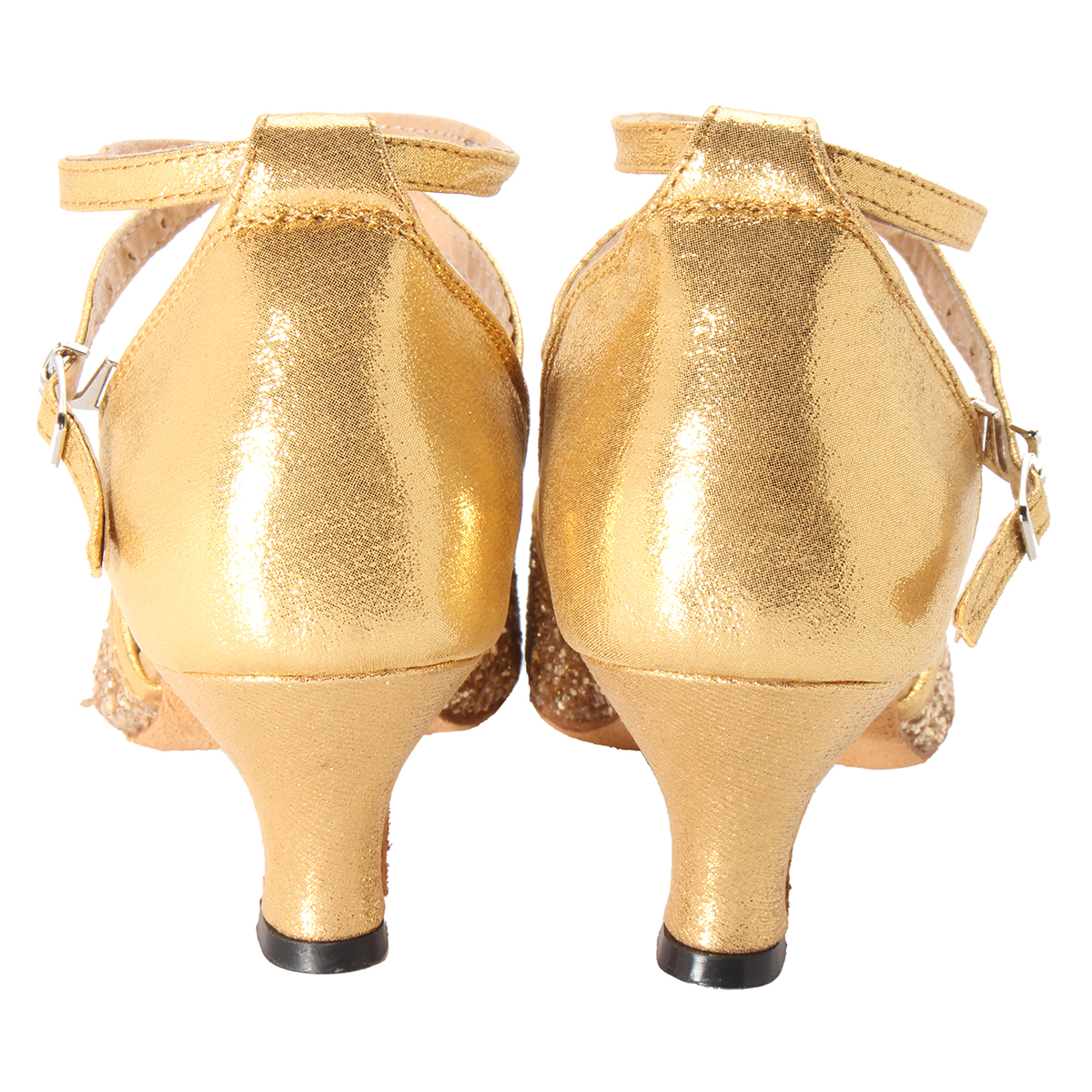 Women Sequined Ballroom Latin Party Heeled Dance Shoes