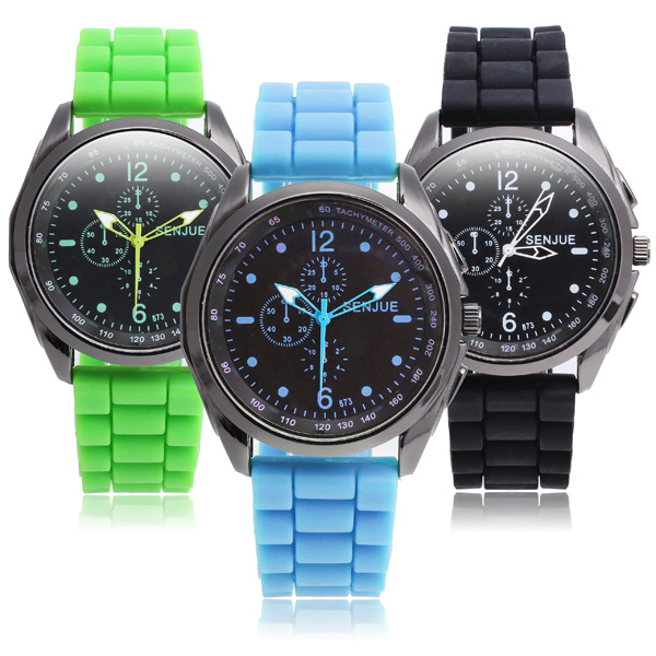 Colorful Silicone Band Men Women Quartz Watch
