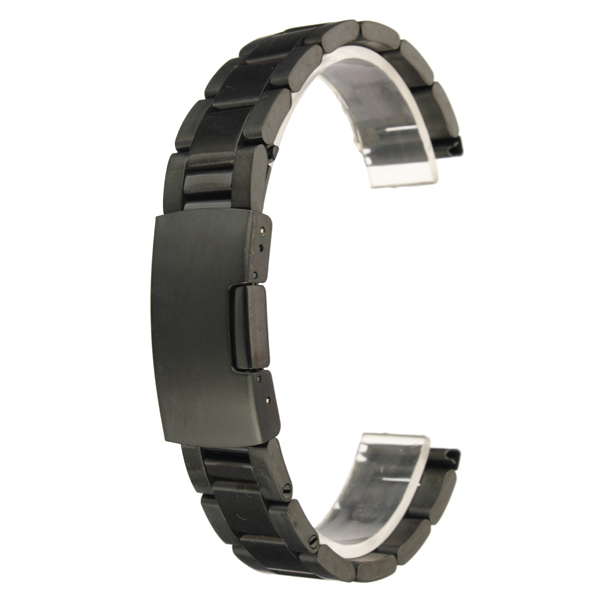 18mm 20mm 22mm 24mm Black Color Stainless Steel Watch Band