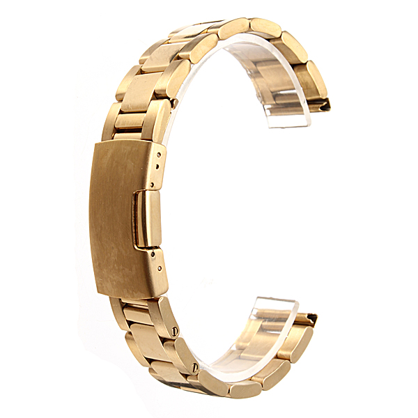 18mm 20mm 24mm Gold Color Stainless Steel Watch Band