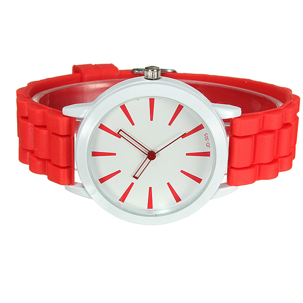 Casual Jelly Colors Silicone Band Analog Women Wrist Watch