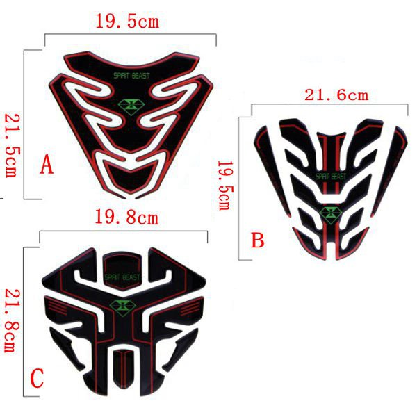 Motorcycle Fuel Tank Pad Decal 3D Logo Reflective Sticker