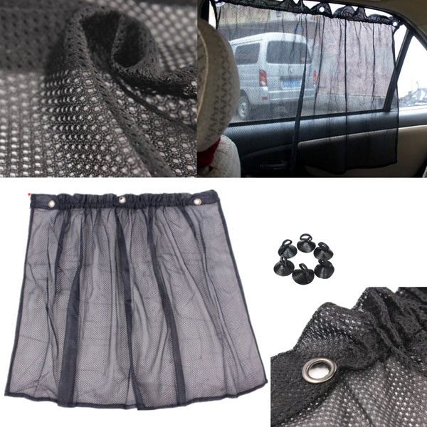 Auto Car Net Curtain Window Sunshade Shadow Protection Curtain