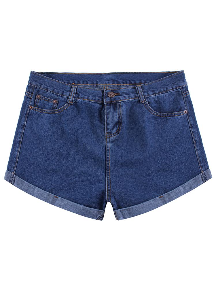 Hot Summer Women Loose High Waist Short Denim Pants A Line Style
