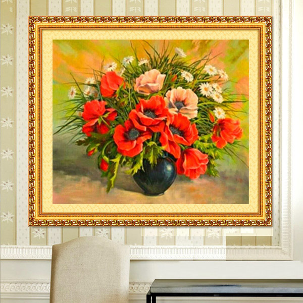 50x40cm Rhinestone Cross-stitch Flower Grass DIY Diamond Painting Kits