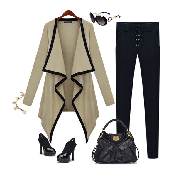New Fashion Women's Cape Irregular Combed Cotton Knitted Autumn Cardigan Jacket Coat
