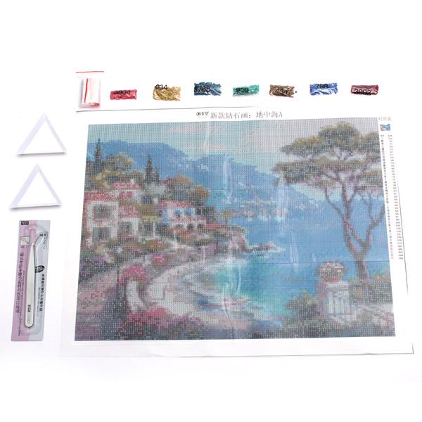 30x40cm DIY Mediterranean Sea Diamond Painting Rhinestone Cross-stitch Kits