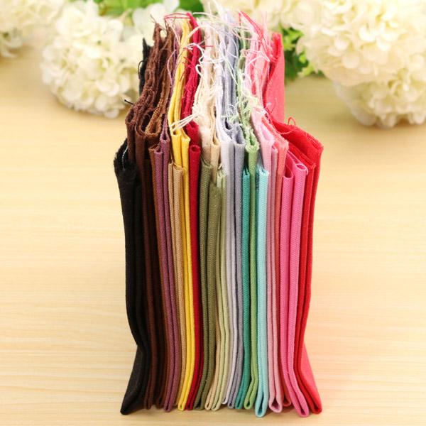 21pcs Pure Color Handwork DIY Cotton Fabric Sewing Patchwork