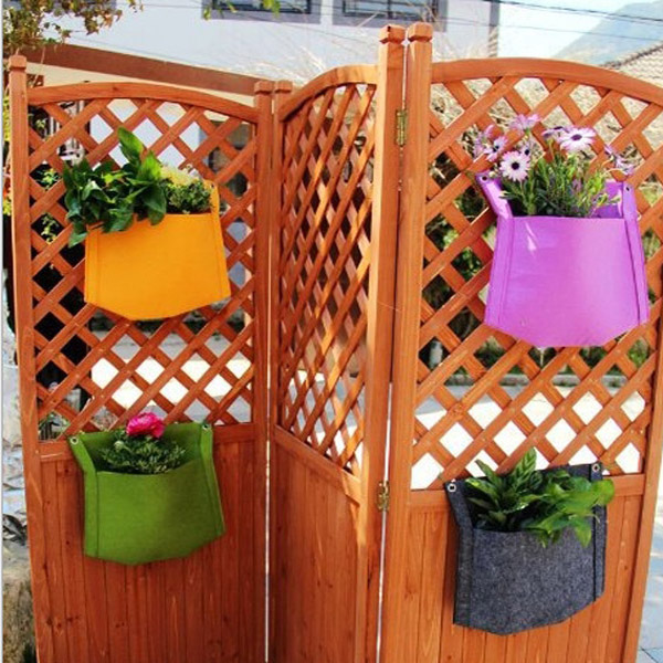 1 Pockets Wall-mounted Felt Planter Bags Indoor Outdoor Plant Grow Bag