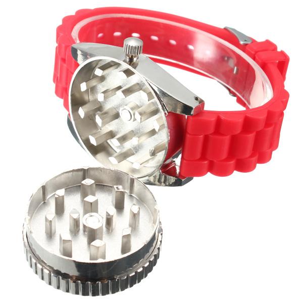 JOLI Real Metal Wrist Watch Grinder Herb Tobacco Leaf Cigarette Crusher Wrist
