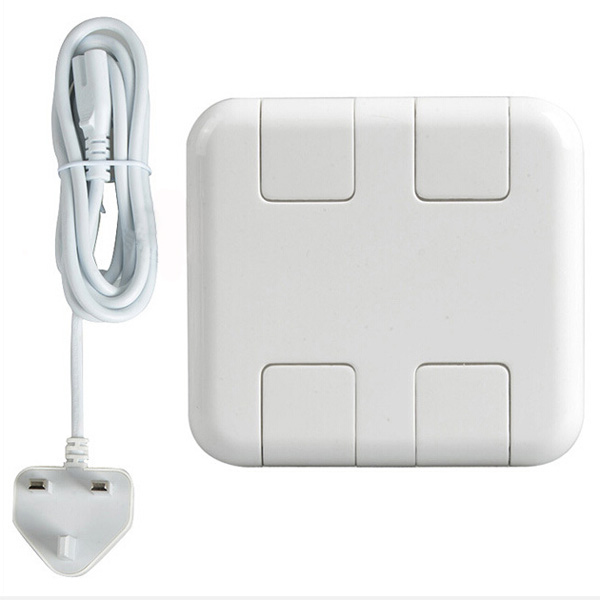 USB 4 Port AC Wall Charging Station Home Adapter Stand For Tablet Cell Phone