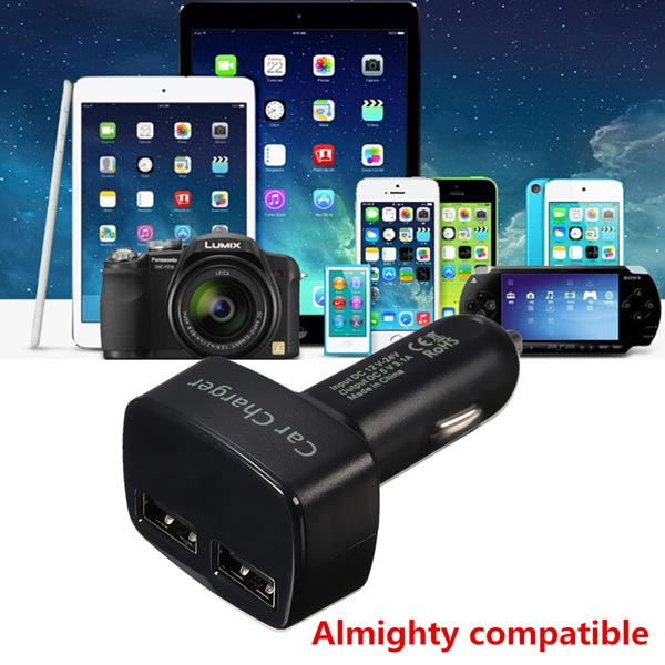 4in1 3.1A Dual Usb Car Charger Adapter Socket With LED Tester Volt Meterr