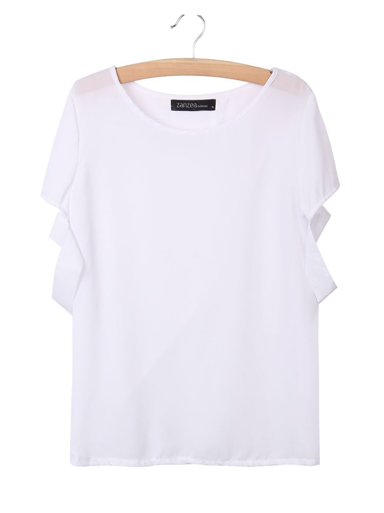 Back Cross Off the Shoulder Tops For Women Casual Sexy White Blouses