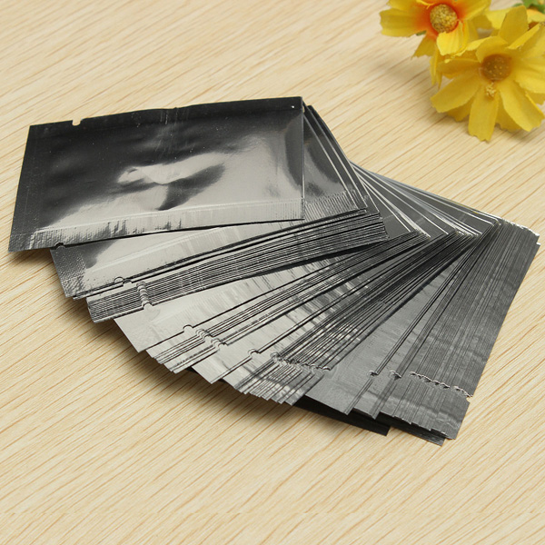 100pcs Silver Aluminum Foil Vacuum Bags Package Food Vacuum Sealed Bag