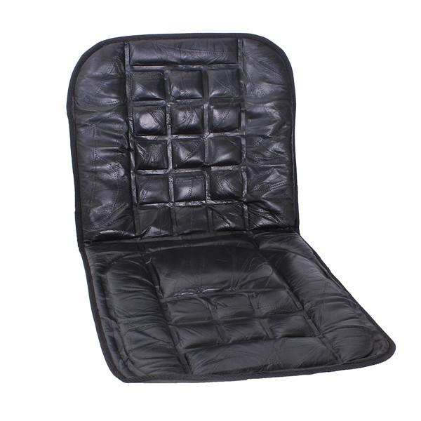 d7c6c8152 Couro volta apoiar tampa de assento cadeira massagem almofada frente para o  automóvel
