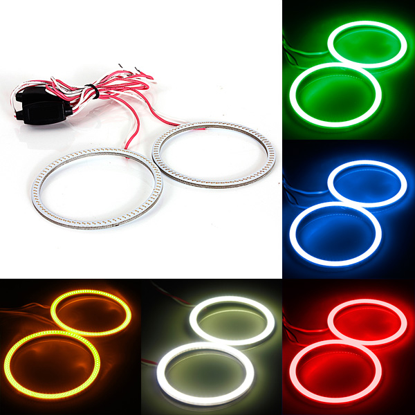 Car COB Bulb 12V-24V 70MM 81 LED Angel Eyes Halo Ring L