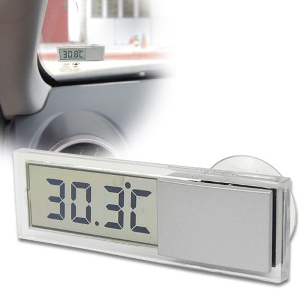 Car Windscreedn Auto Rear View Mirror Digital Display Thermometer