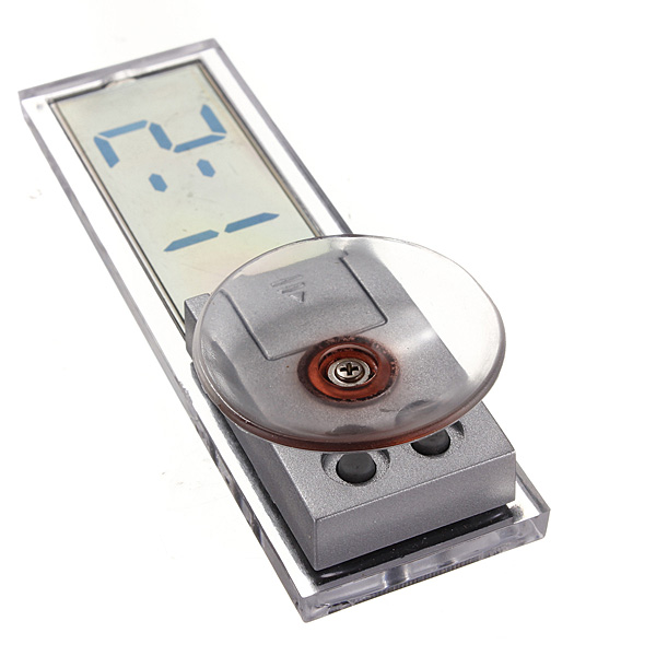 Suction Cup Car Dashboard Windscreedn Digital Lcd Display Mini Clock