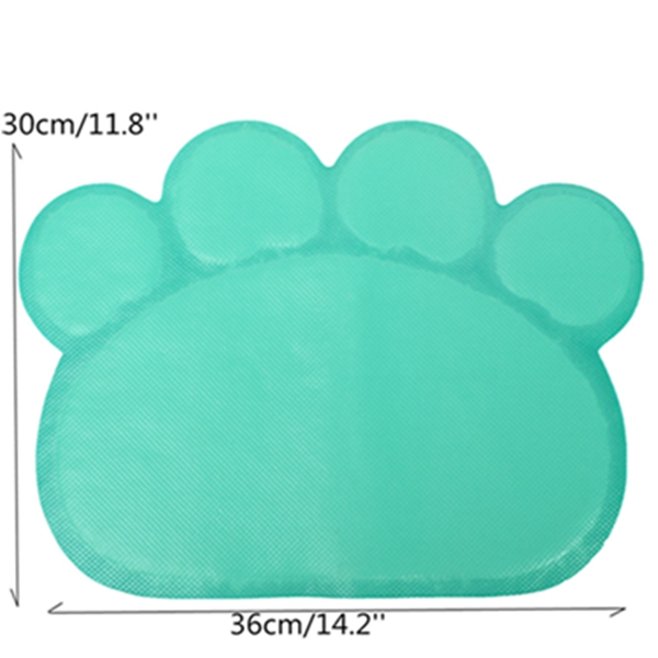 Pet Dog Puppy PVC Cat Dish Bowl Feeding Food Placemat Mat Wipe Clean