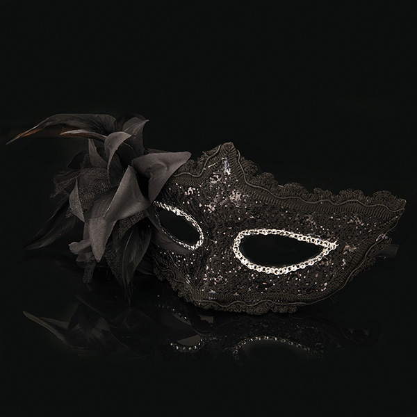 Sexy Costume Ball Mask Venetian Lace Mask Masquerade Feather Party Eye Mask