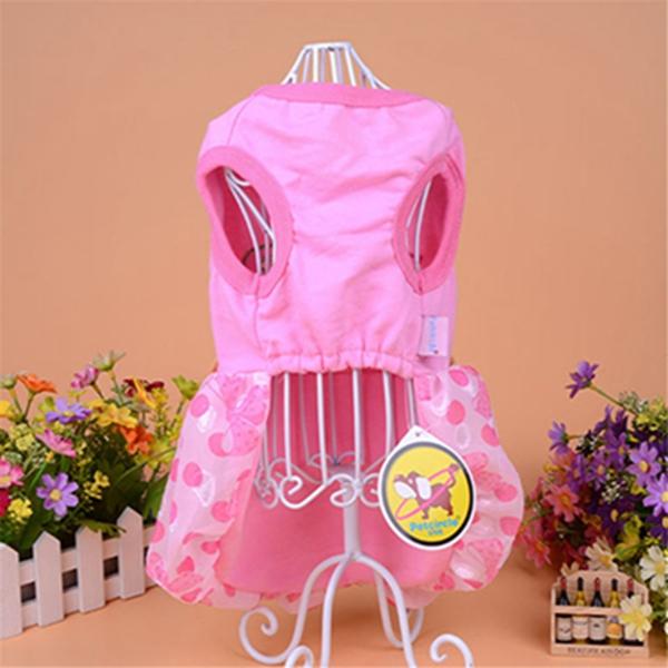 Summer Pet Dog Cat Clothing Polka Dot Bear Skirt Princess Bubble Skirt Puppy Dress