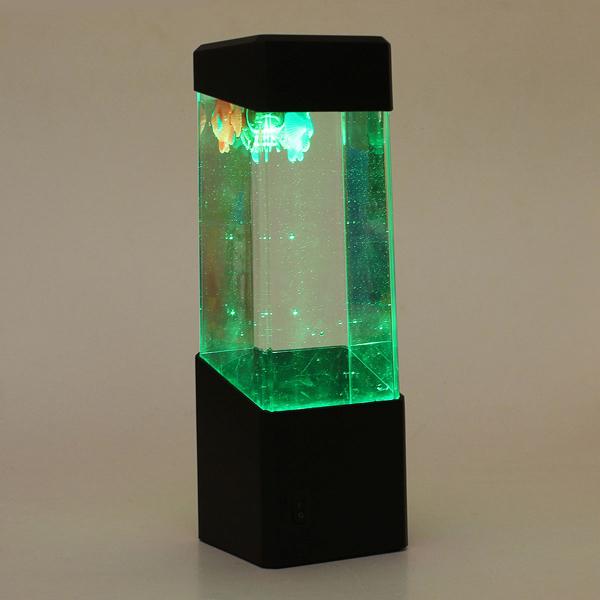 Mini LED Light Fish Tank Jellyfish Aquarium Home Office Decoration