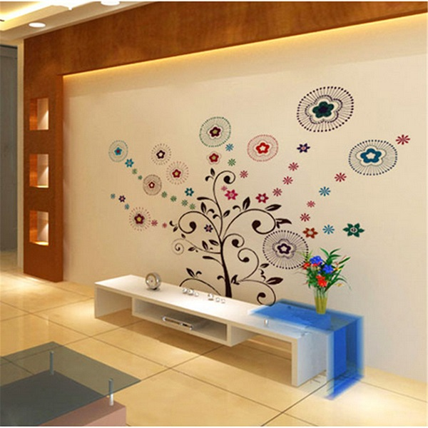 Lucky Tree Wall Stickers Art Decor Removable Vinyl Wall Background Home Decor