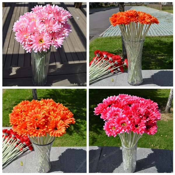 10Pcs Sunbeam Artificial Flower Mum Gerber Daisy Bridal Bouquet Silk Wedding Party Flowers