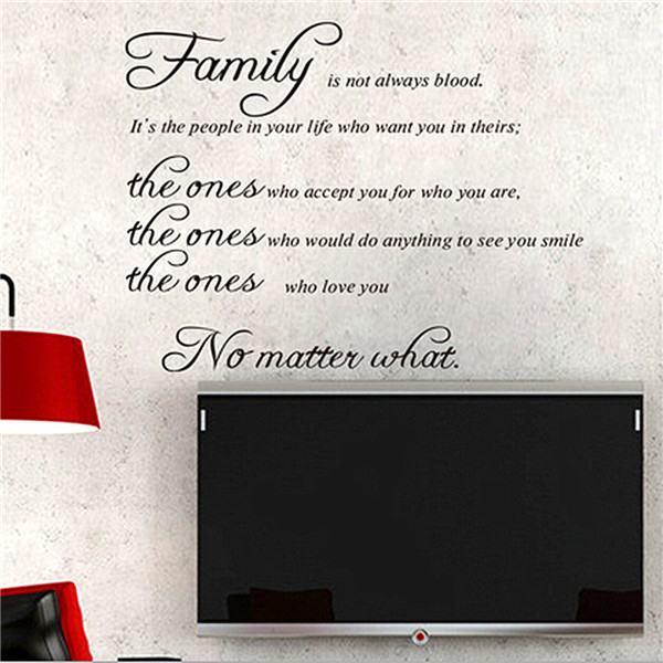 Family Quote Wall Sticker Removable Decal Mural DIY Liv