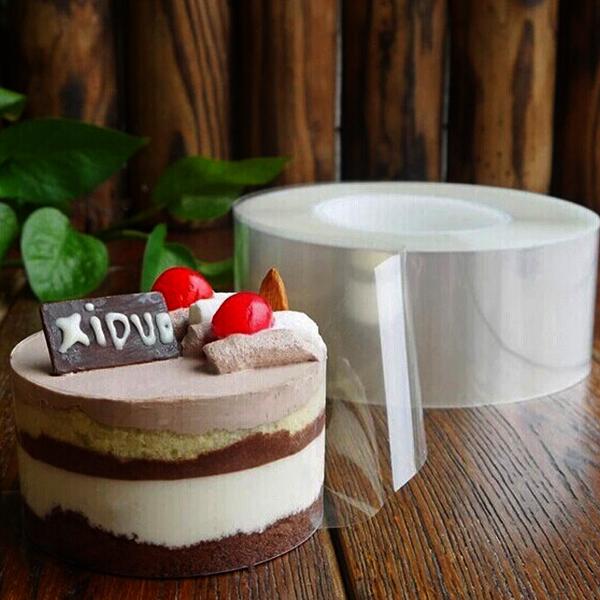 Image of DIY Mousse Cake transparente Membran Baking Umgebung Kantenband Perimeter