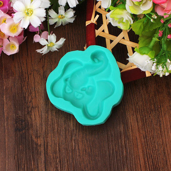 3D Silicone Elephant Shape Cake Mold Fondant Cake Candy Chocolate Mold