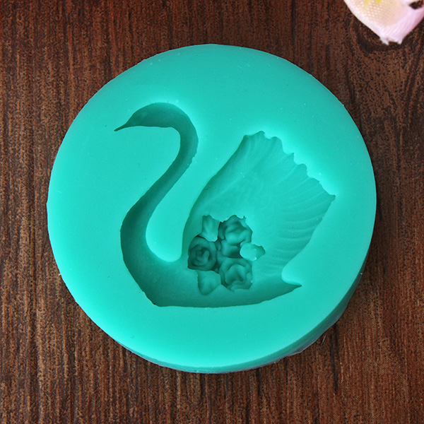 3D Swan Fondant Cake Mold Cake Decorating Tools Silicone Mould