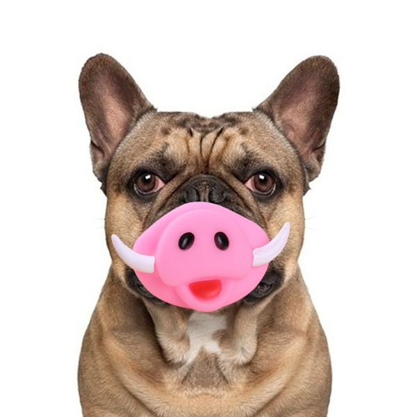 Dog Chew Toy Pig Nose Puppy Pet Sound Toy Vinyl Grind Teeth Training Chew Tool