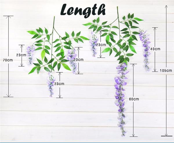 Simulation Flower Simulation Phalaenopsis Wisteria Home Wall Garden Window Decor