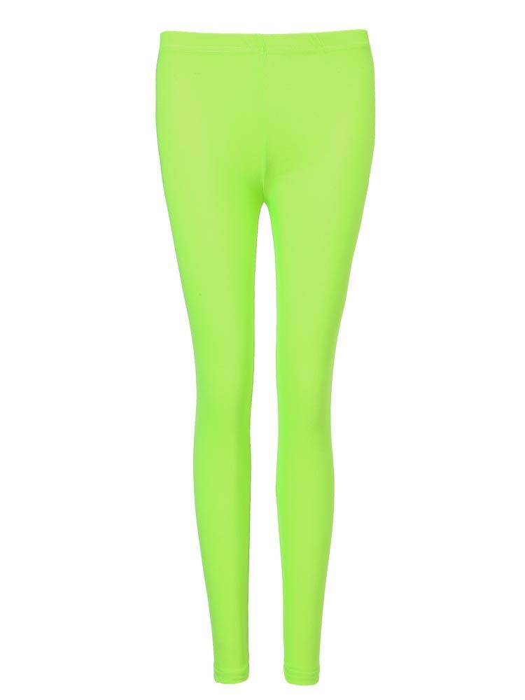 Female Candy Fluorescent Color Nylon Nine Points Leggings