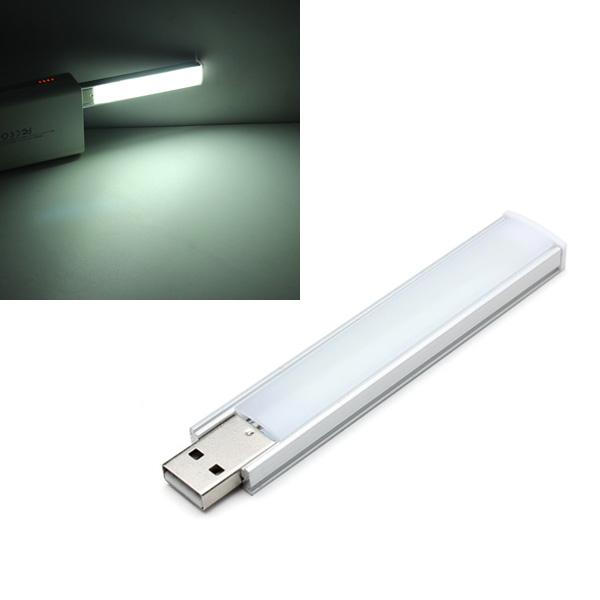10cm 1.4w 8 smd 5152 aluminum shell strip super bright usb led lights