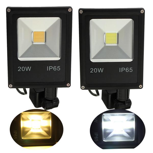 20w pir motion sensor led flood light ip65 warm/cold white lighting title=20w pir motion sensor led flood light ip65 warm/cold white lighting