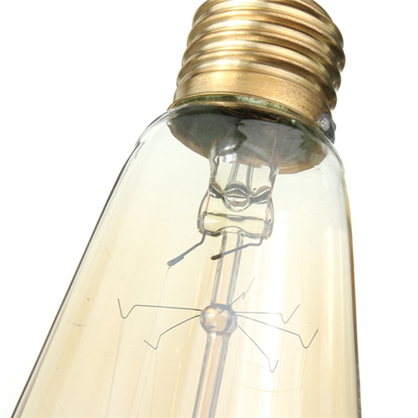 E27 ST58 40W Vintage Antique Edison Style Carbon Filament Clear Glass Bulb 220-240V